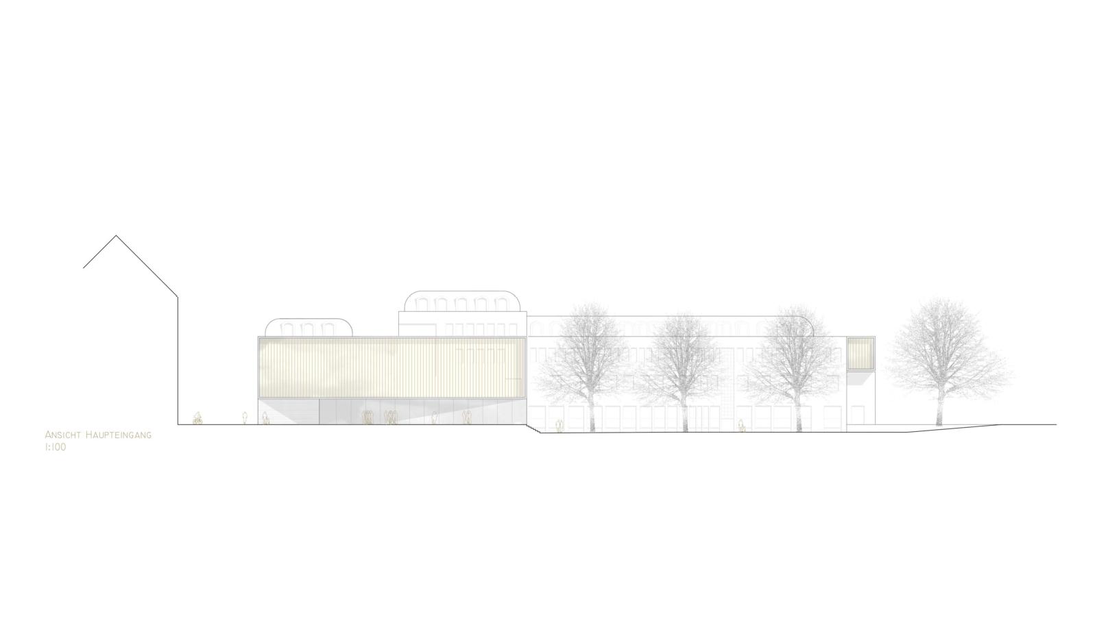 WETTBEWERB Sanierung und Erweiterung Kunstuniversität GRAZ Ansicht Hauptzugang
