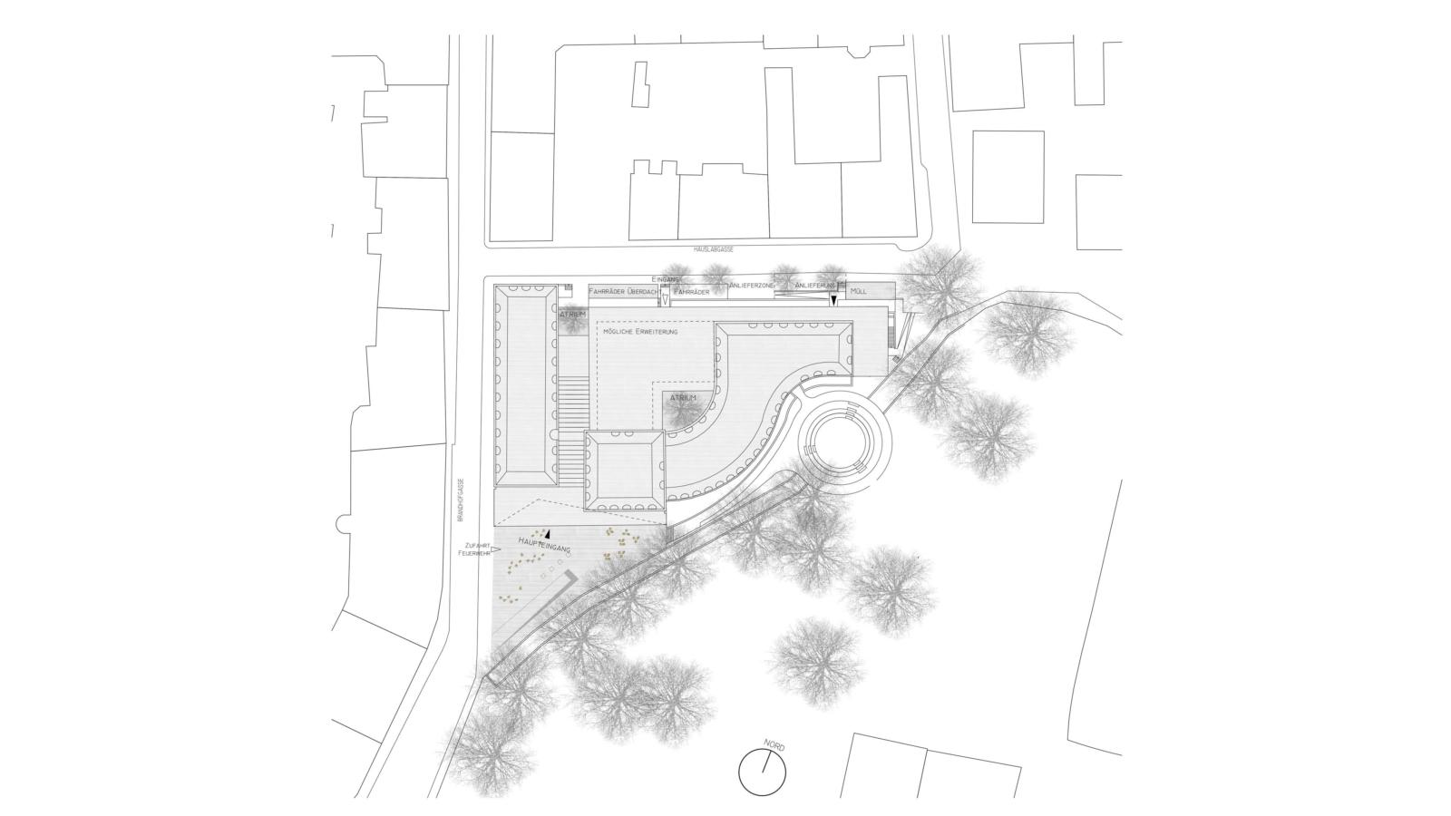 WETTBEWERB Sanierung und Erweiterung Kunstuniversität GRAZ Lageplan