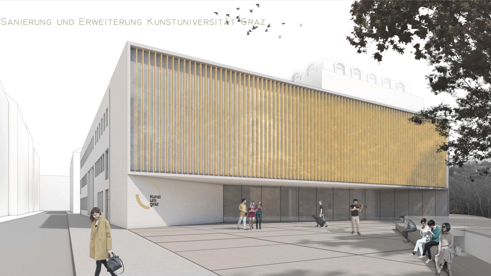 WETTBEWERB Sanierung und Erweiterung Kunstuniversität GRAZ Schaubild
