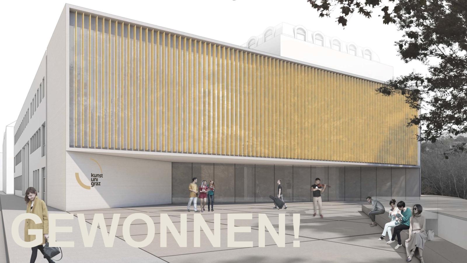 WETTBEWERB Sanierung und Erweiterung Kunstuniversität GRAZ Schaubild_Start