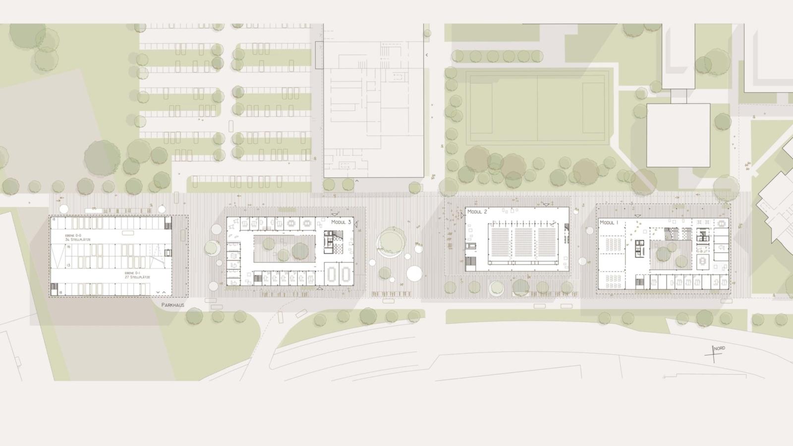 WETTBEWERB JKU Campus_Lageplan