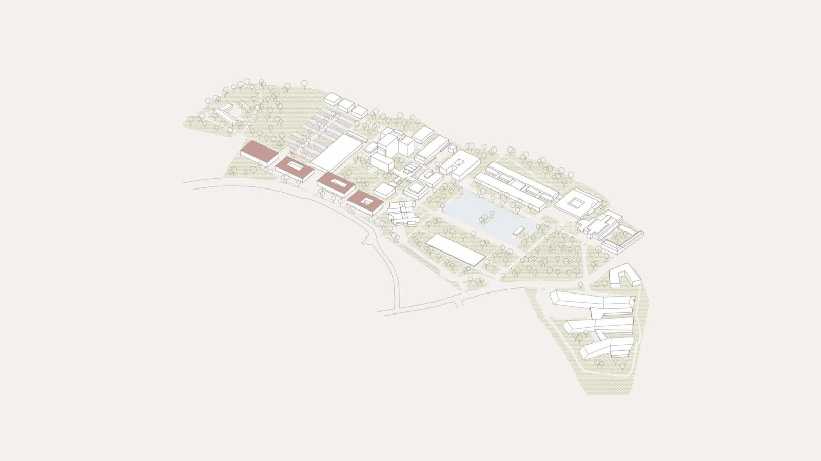 WETTBEWERB JKU Campus_lage Übersicht